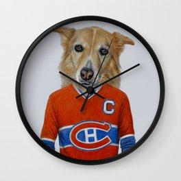 dog in sportwear Wall Clock