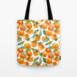 Mandarins With Leaves Tote Bag
