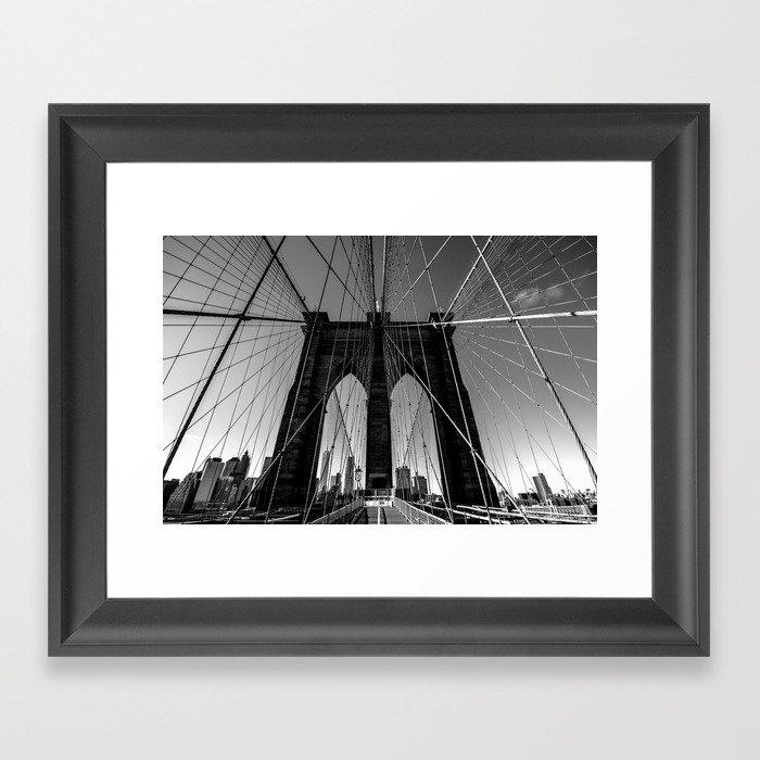 Brooklyn Bridge Gerahmter Kunstdruck