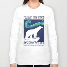 Svalbard Dark Season Travel Poster - Norway Long Sleeve T-shirt