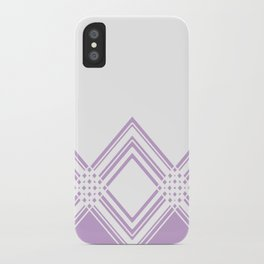 Abstract geometric pattern - purple and white. iPhone Case