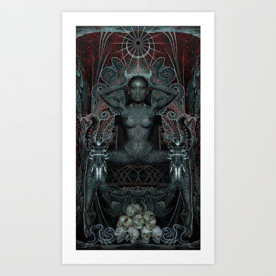 Triptych: Shakti - Black Goddess Art Print