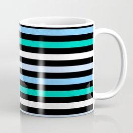 Sky Blue Minty Green Fun Stripes Coffee Mug