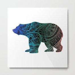 Colorful Rainbow Bear - III Metal Print