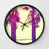palms Wall Clocks featuring Palms by Giuseppe Cristiano