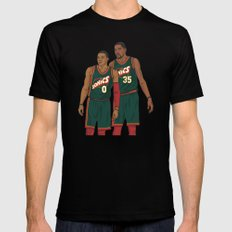 Westbrook and Durant - Retro Jersey Mens Fitted Tee Black SMALL