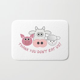 Thank you don't eat us Bath Mat