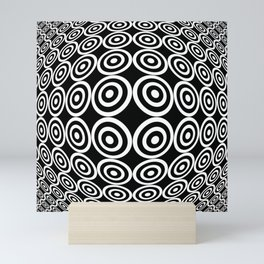 Tribute to Vasarely 7 -visual illusion- black circle Mini Art Print