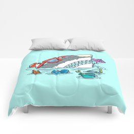 Beach Party Shark Comforters