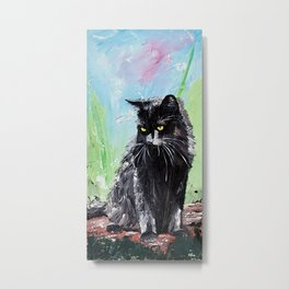 My little cat - kitty - animal - by LiliFlore Metal Print