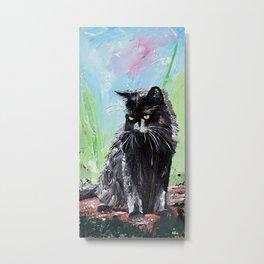 My little cat - kitty - animal - by LiliFlore Metal Print