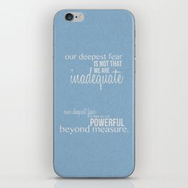 Our Deepest Fear - Coach Carter - Quote Poster iPhone Skin