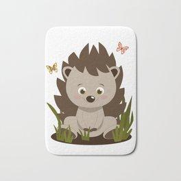 Hedgehog nursery baby art Bath Mat