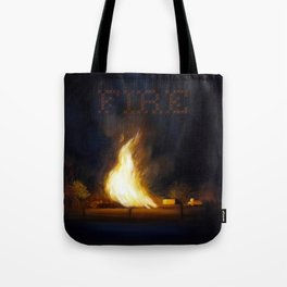 Bonfire at the Drift Tote Bag
