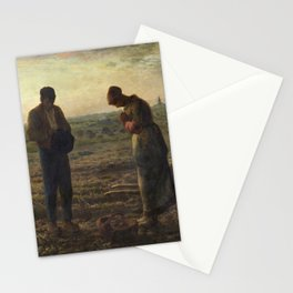 The Angelus by Jean Francois Millet Stationery Cards