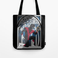 sword Tote Bags featuring Wagner's Sword by Andrew Formosa
