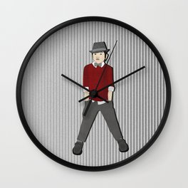 boys formal wear red Wall Clock
