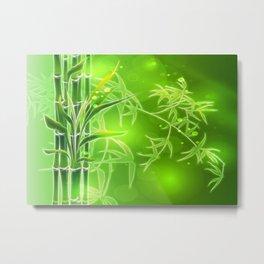 Bambus im Morgenlicht Metal Print