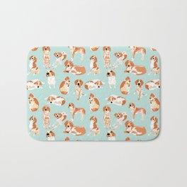 Redtick Coonhound on Light Blue Bath Mat