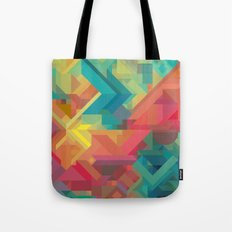 VIBRANT ABSTRACT MULTI COLOR GEOMETRIC PATTERN GRAPHIC Tote Bag