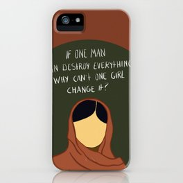 One Girl Can Change It iPhone Case