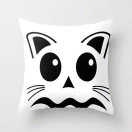 Jack O Lantern Scaredy Cat Halloween Costume For Boys Girls Throw Pillow