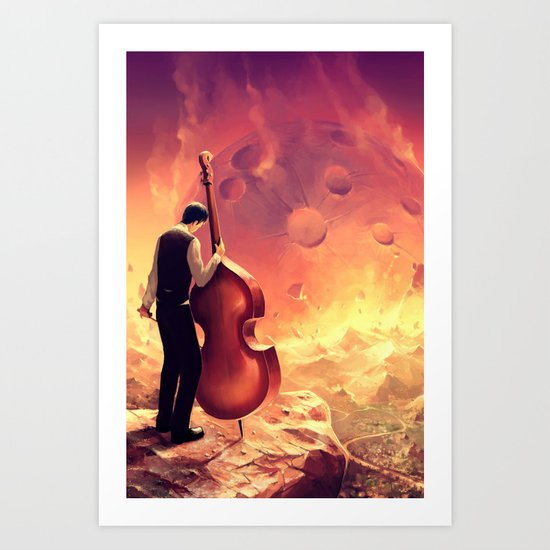 The last sound from Earth Art Print