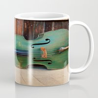 bass Mugs featuring Double Bass by happeemonkee