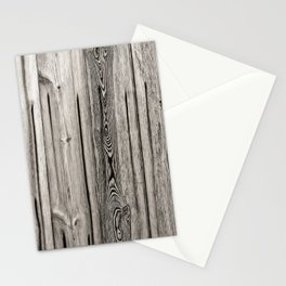 Black white and grey  wooden floor Stationery Cards