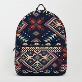 Ukrainian folk seamless pattern ornament Backpack