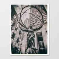 atlas Canvas Prints featuring Atlas by JAY'S PICTURES