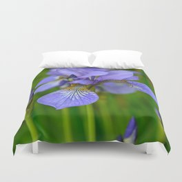 Siberian Iris by Teresa Thompson Duvet Cover