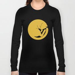 Cat At The Moon Long Sleeve T-shirt