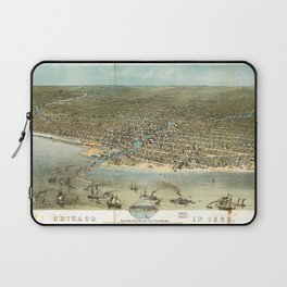 Chicago in 1868 from Schiller Street north side to 12th Street south side Laptop Sleeve