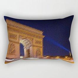 Arc De Triomphe, Paris, A Landscape by Jeanpaul Ferro Rectangular Pillow