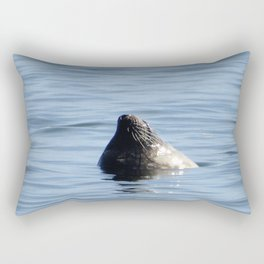 SEAL, POKING THROUGH THE ATLANTIC FOR SUN RAYS Rectangular Pillow