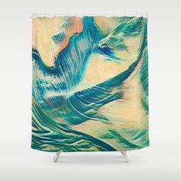 Sandy Waves Shower Curtain