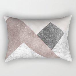 Rose grunge - mountains Rectangular Pillow