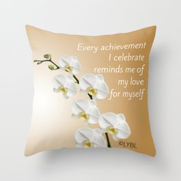 Love Yourself Celebrate Throw Pillow