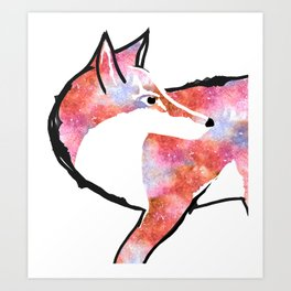 Fox for Fire  Art Print