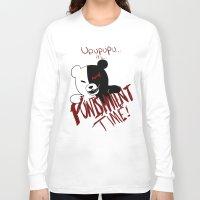 dangan ronpa Long Sleeve T-shirts featuring Dangan Ronpa: Monokuma's Punishment by Michelle Rakar