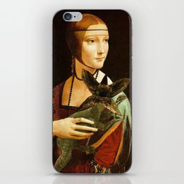 Lady with a young Demo Gorgon iPhone Skin