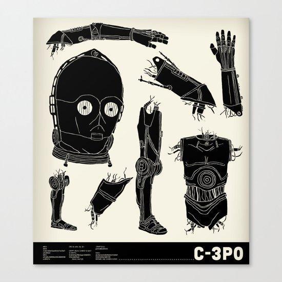 Decommissioned: C-3P0 Canvas Print