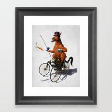 Horse Power (Wordless) Framed Art Print