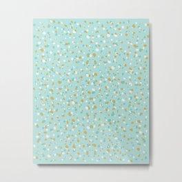 Aqua Turquoise Terrazzo Metal Print