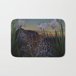 Leopard Stalking Bath Mat