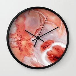 Living Coral Gemstone Wall Clock
