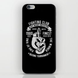 fighting club heavy weight unification iPhone Skin