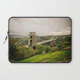 Bristol- Clifton Suspension Bridge Panorama Laptop Sleeve
