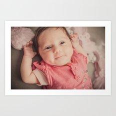 baby lila Art Print